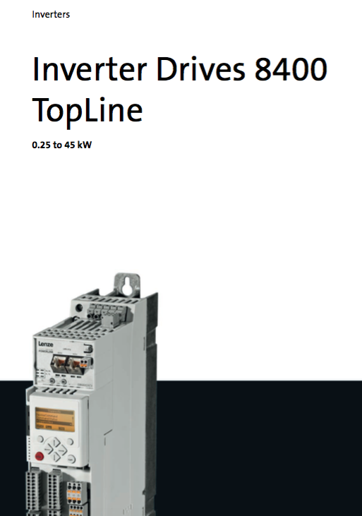 Lenze 8400 Inverter Drives Topline