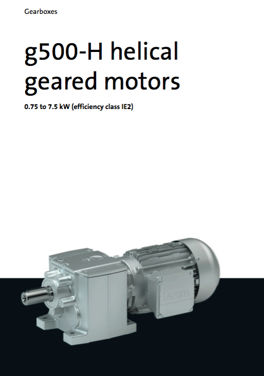 Lenze G500 Helical Geared Motor Katalog