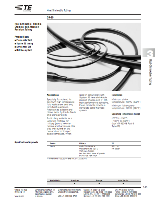 DR-25 Heat-Shrinkable Tubing